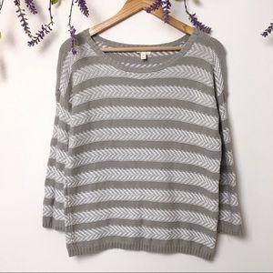 Soft Joie Cairo Dolphin Grey Stripe Cotton Sweater